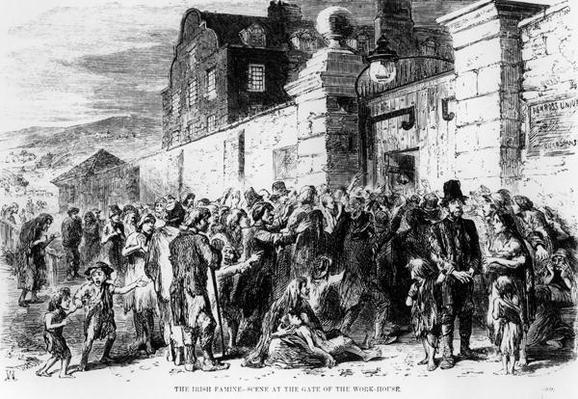 The Irish Famine: Scene at the Gate of the Work-House