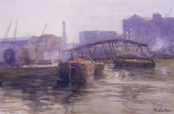 A Misty Day in Salford Docks